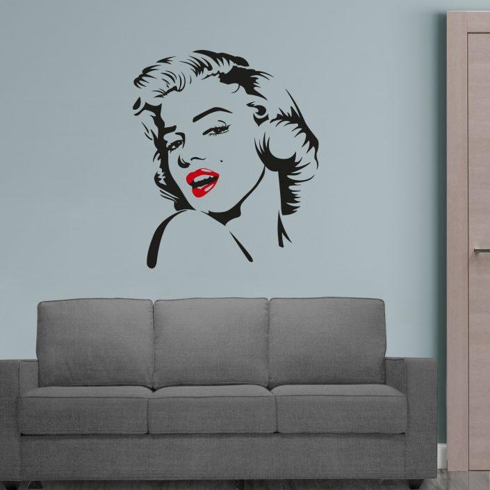 adesivo murale marilyn